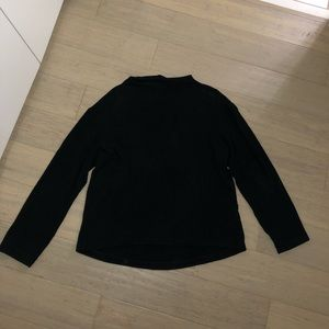 H&M Black Fuzzy Rayon Long Sleeved Sweater